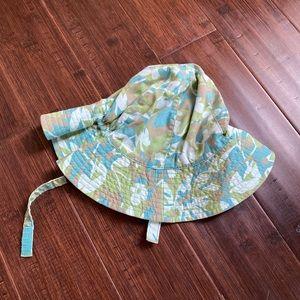 Baby Gap girls green & blue floppy sun hat 12-18mo